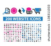 200 website isolated icons ... | Shutterstock .eps vector #138311033