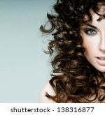 beautiful brunette with... | Shutterstock . vector #138316877
