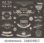 retro typographic calligraphic... | Shutterstock .eps vector #138319817