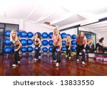 pretty girls working out in a... | Shutterstock . vector #13833550
