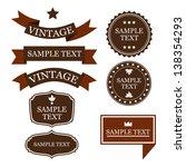 vector vintage items | Shutterstock .eps vector #138354293