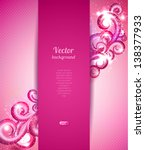 glamour vector background with... | Shutterstock .eps vector #138377933
