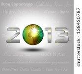 new year illustration  a golden ... | Shutterstock . vector #138430787