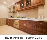 the kitchen with classic cabinet | Shutterstock . vector #138443243