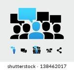 social group | Shutterstock .eps vector #138462017
