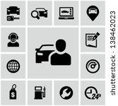 car dealership icons set | Shutterstock .eps vector #138462023