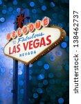 welcome to las vegas neon sign... | Shutterstock . vector #138462737