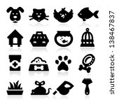 Stock vector pet icons 138467837