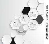 modern hexagon design   eps10 | Shutterstock .eps vector #138471107