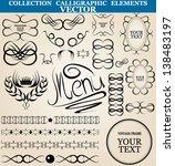set of vector calligraphic... | Shutterstock .eps vector #138483197