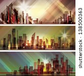 city skyline. raster version | Shutterstock . vector #138500363