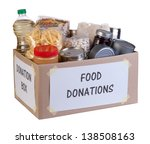 food donations box isolated on... | Shutterstock . vector #138508163