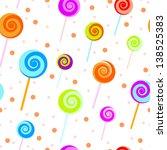 seamless candy vector pattern. | Shutterstock .eps vector #138525383