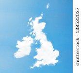 uk cloud map | Shutterstock . vector #138532037