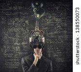 business solutions  man wearing ... | Shutterstock . vector #138550073