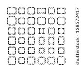 set 1 of black frameworks... | Shutterstock . vector #138572417