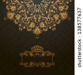 elegant gold frame banner with... | Shutterstock .eps vector #138577637