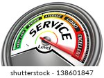 Service Level Meter  Isolated...