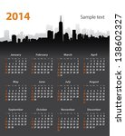 2014 Year Stylish Calendar On...