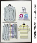 the suit for the man hangs on a ... | Shutterstock .eps vector #138603053