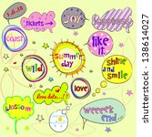 sweet speech bubbles and labels ... | Shutterstock .eps vector #138614027