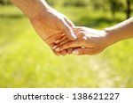 two pairs of hands in love | Shutterstock . vector #138621227