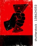 Red And Black Poster With Fist...
