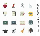 education icons with white... | Shutterstock .eps vector #138650963
