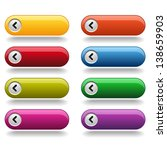 colorful long round buttons | Shutterstock .eps vector #138659903
