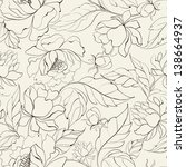 seamless floral pattern with... | Shutterstock . vector #138664937