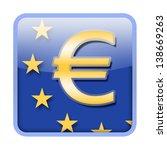 euro symbol on european union... | Shutterstock . vector #138669263