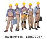 portrait of happy industrial...   Shutterstock . vector #138673067
