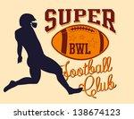 college american football... | Shutterstock .eps vector #138674123