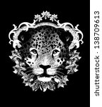Leopard, T shirt design/All elements are editable