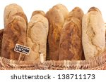 breads close up in the basket ... | Shutterstock . vector #138711173