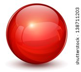 glossy sphere 3d red | Shutterstock . vector #138711203