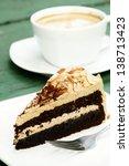 closeup of mocha almond cake...   Shutterstock . vector #138713423
