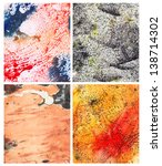 Set of handmade abstract color backgrounds - stock photo