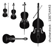 music instruments vector set.... | Shutterstock .eps vector #138714443