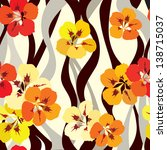 floral seamless background.... | Shutterstock .eps vector #138715037