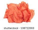 Crumpled Orange Tissue Paper...