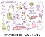 wedding set | Shutterstock .eps vector #138746753