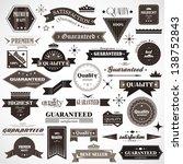 vintage design elements. labels ... | Shutterstock .eps vector #138752843