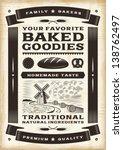 vintage bakery poster. editable ... | Shutterstock .eps vector #138762497