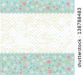 floral shabby vintage... | Shutterstock . vector #138788483