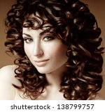 beautiful brunette with... | Shutterstock . vector #138799757