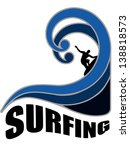 surfing design for t shirts or... | Shutterstock . vector #138818573