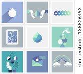 drops of water. set of design... | Shutterstock .eps vector #138826493