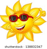 sun cartoon character with... | Shutterstock . vector #138832367