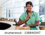 Smiling African American Nurse...